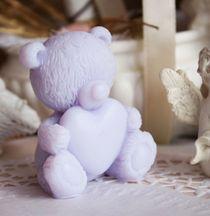 Loving Teddy Valentine Lilac - handmade soap