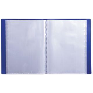 Folder 100 liners BRAUBERG diagonal, dark blue, 0.9 mm