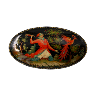 "Brooch Palekh ""Firebird"", 6*3cm, master Komardina"