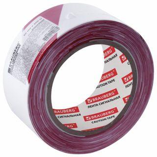 "BRAUBERG / Signal tape ""Grandmaster"" red-white, 50 mm x 200 m, polyethylene base"