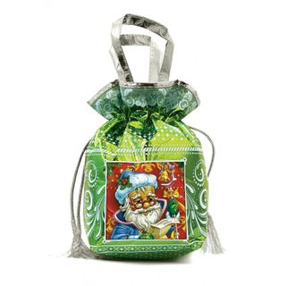 "New Year's gift Green bag ""Santa Claus"", set of sweets 900g."
