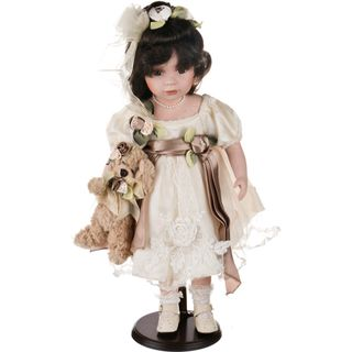 Porcelain doll with dog