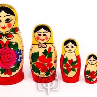 Rossijanochka - traditional doll, 5 dolls