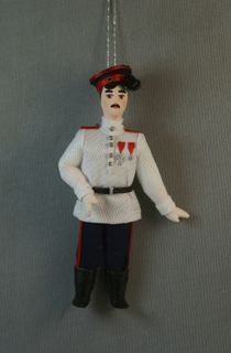 Doll gift. Don Cossack. A late 19th century Russia.