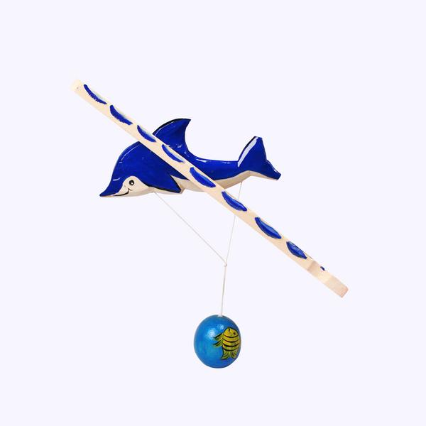 Bogorodskaya toy / Wooden souvenir 'Diving dolphin'