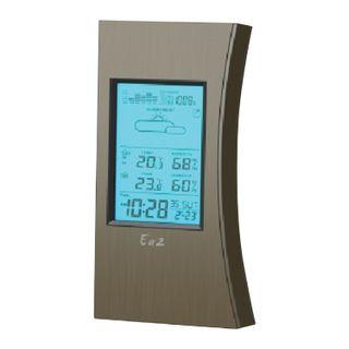 Weather station EA2 ED 608, temperature sensor, clock, alarm, calendar, barometer, black