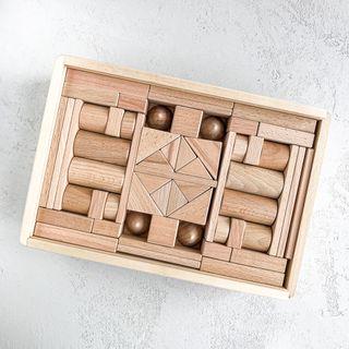 """Wooden designer """"Buk No. 4"""", 111 parts"""