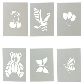 Stencil for drawing by air markers CENTROPEN, CJ, nature, 8 pieces