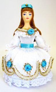 Doll gift porcelain. Malvina. Fairy tale character.
