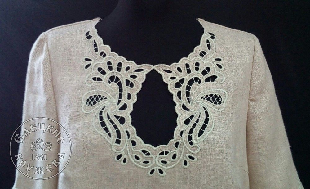 Yelets lace / Women's linen dress С11697