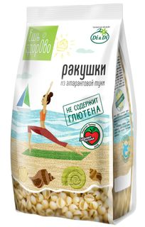 "Pasta ""Eat Health"" from amaranth flour, gluten-free Shells 250g"