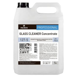 Means for washing glasses and mirrors with ammonia 5 l, PRO-BRITE GLASS CLEANER, concentrate