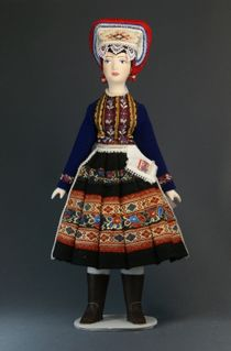 Doll gift. Womens Slovak folk costume