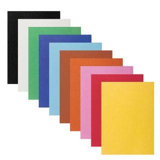 Color VELVET paper A4, 10 sheets, 10 colors, 110 g/m2, INLANDIA,
