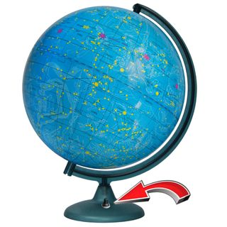The celestial globe with a diameter of 320 mm with backlight battery powered (batteries not included)