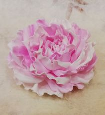Hair clip brooch rose pink color mix milotto