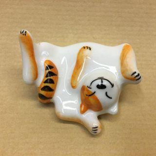 """Figurine porcelain """"ginger Cat in the sun"""""""