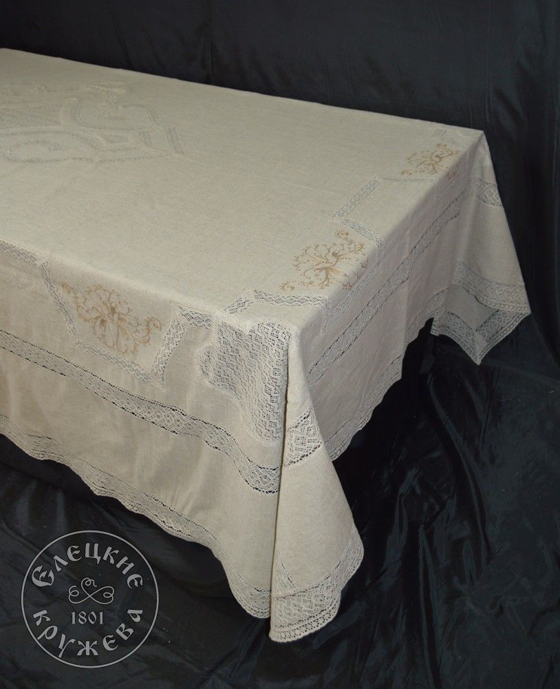 """Yelets lace / Table set """"Tablecloth and napkins"""" С2158"""