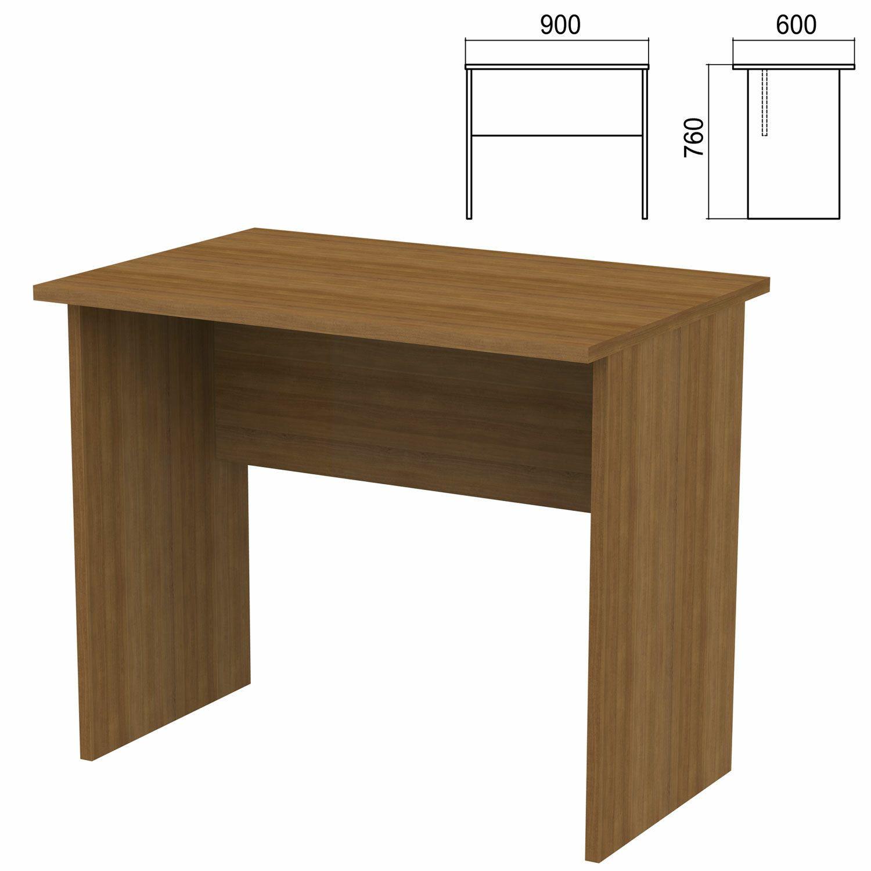 "Table written ""Argo,"" 900 x600 x760 mm, walnut"