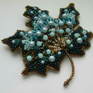 Brooch Maple leaf. Handmade