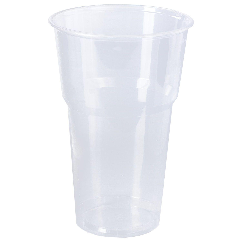 """LIMA / Disposable cups 500 ml, SET 20 pcs., Plastic, """"BUDGET"""", transparent, PP, cold / hot"""