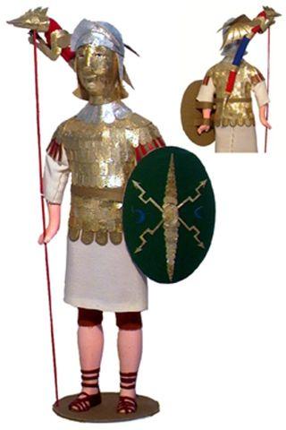 Doll gift Takanari. 4-6 century BC. The military uniform. The Roman Empire.