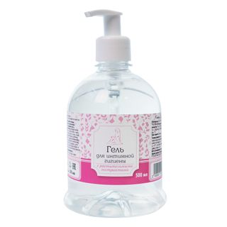 Gel for intimate hygiene with a plant extract of 300 ml