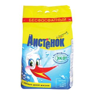 """Detergent powder for all types of washing AISTENOK """"Magic whirlwind"""" phosphate-free 4 kg"""