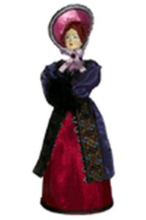 Doll gift porcelain. The St. Petersburg lady. The middle of the 19th century. Petersburg, European fashion.