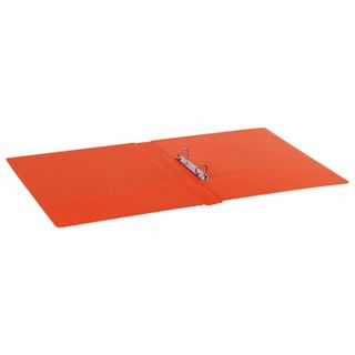 Folder on the 2 rings BRAUBERG, cardboard/PVC, 35 mm, red, 180 sheets (double life)
