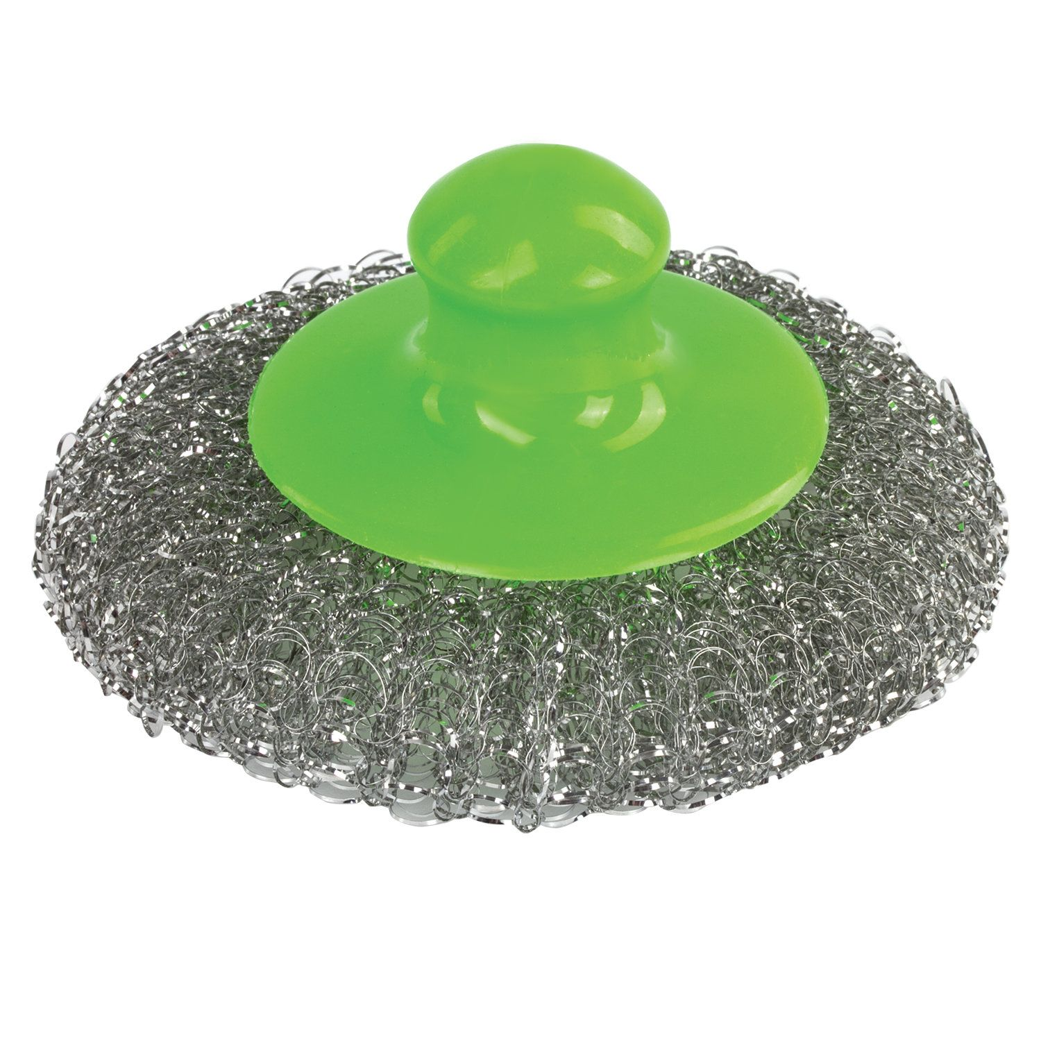 LIME / Sponge (washcloth) for dishes, metal plastic handle, with a SPARE NOZZLE, 20 g
