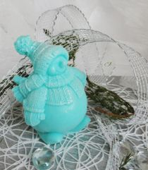 Snowman turquoise - homemade olive gift soap