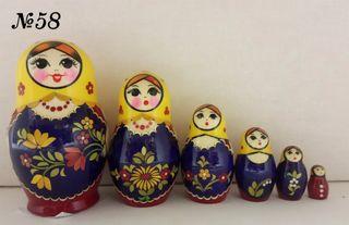 Vyatka souvenir / Painting inlaid matryoshka 6 ave.