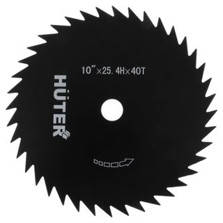 Trimmer knife, d-255 mm, 40 teeth, Euro suspension, HUTER GTD-40T