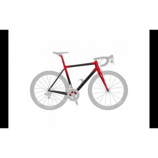 2019 Colnago C64 Frameset Matte Carbon, Gloss Red Lugs 52 Sloping Geom
