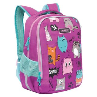 Backpack school GRIZZLY, anatomic back,