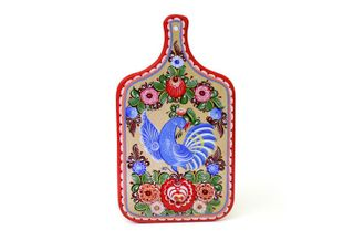 "Gorodets painting / Painted kitchen board ""Bird"""