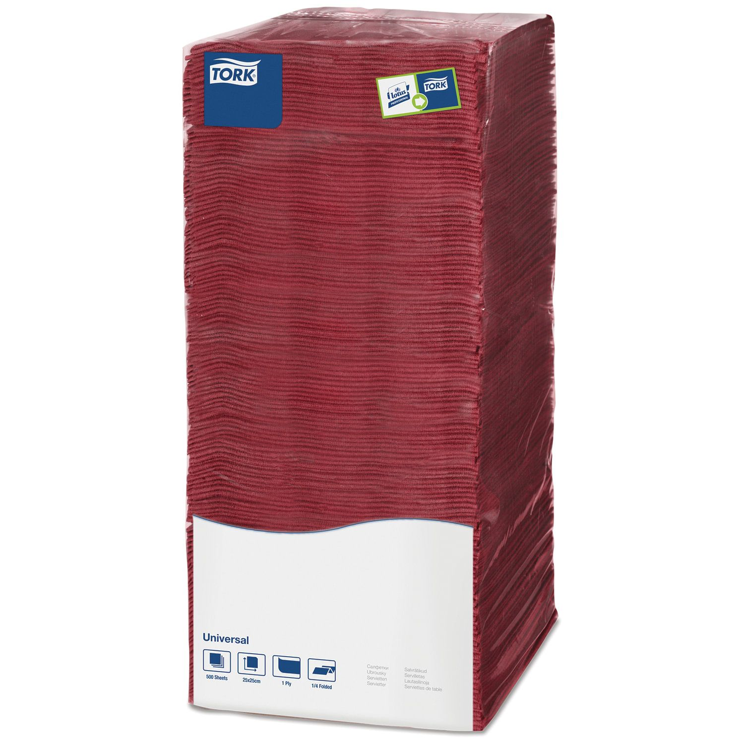 TORK / Napkins Big Pack burgundy, 25x25, 500 pcs.