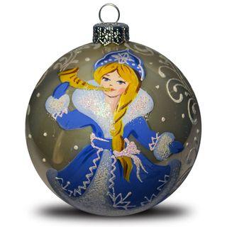 Christmas ball snow maiden