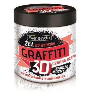 Hair gel with black turnip , BIELENDA GRAFFITI 3D , 250ml