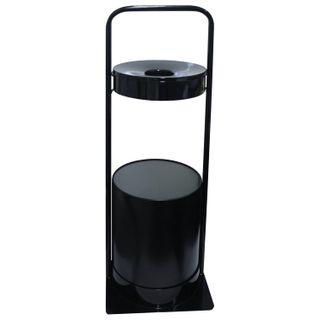 Urn metal street with ashtray, 781x290x290 mm, 15 liters, black