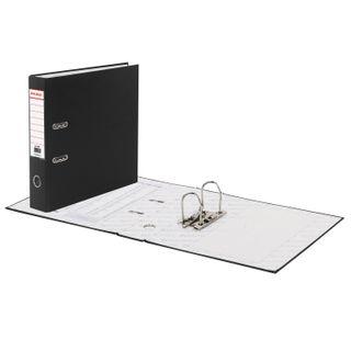 Folder-Registrar BRAUBERG with PVC coating, 70 mm, black (double life)