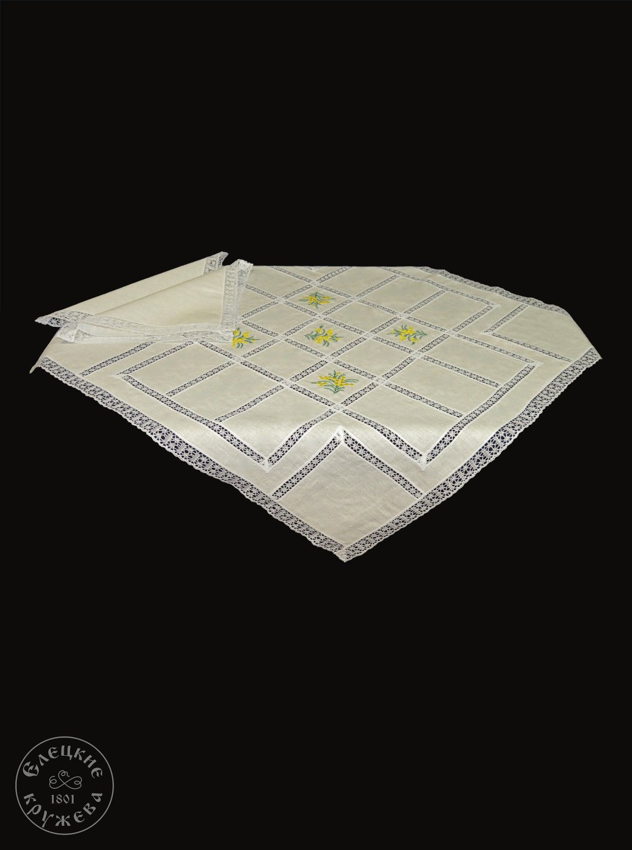 "Yelets lace / Table set ""Tablecloth and napkins"" С912"