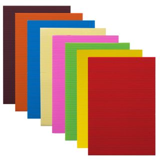 Colored paper A4 CORRUGATED, 8 sheets in 8 colors, 160 g/m2, TREASURE ISLAND