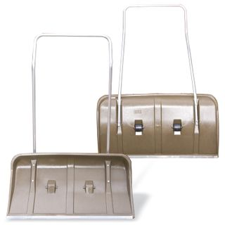 BERCHOUSE / Snow shovel (scraper) on wheels, plastic, 82x45 cm, height 120 cm, metal handle