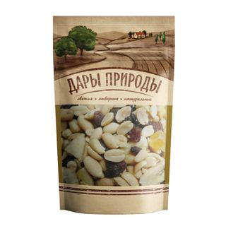 "GIFTS OF NATURE / Nuts and dried fruits ""Cocktail"", peanuts, candied fruits, banana, dried fruits, cashews, 150 g"