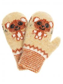 Children's mittens 'Teddy Bear' for a child 2-3 years