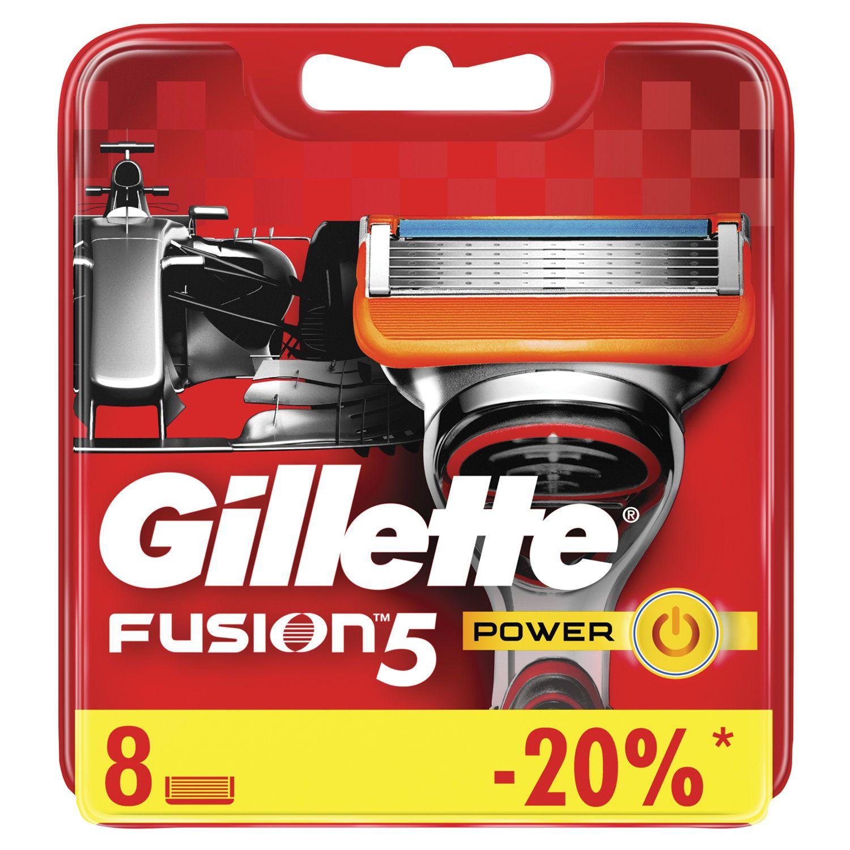 """Replacement shaving cassettes 8 pcs. GILLETTE """"Fusion Power"""", for men"""