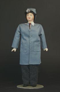 Doll gift porcelain. The doctor-the otolaryngologist.