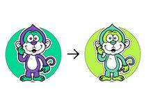 Decal on textiles Monkey